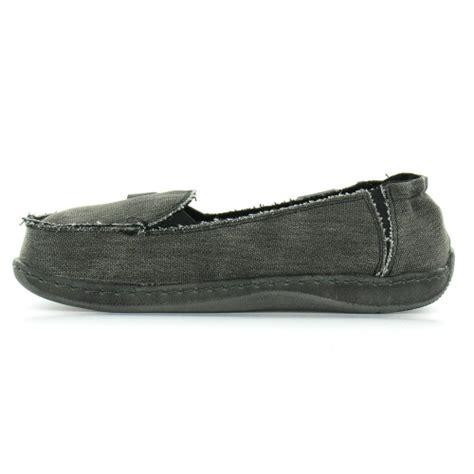 hey dude hey dude womens canvas slip on shoes black