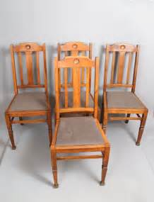 Oak Dining Chairs Antique Set Of 6 Shapland Petter Oak Dining Chairs Antiques Atlas
