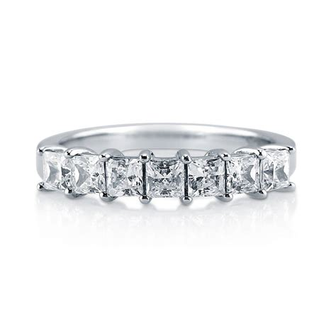 berricle sterling silver cz 7 ring