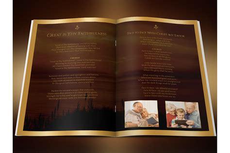 photoshop program template sunset funeral program photoshop templa design bundles
