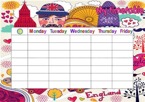 my timetable worksheet free esl printable worksheets