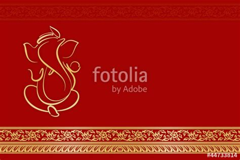Invitation Letter Format For Ganpati Quot Greetings Invitation Card With Ganesha India Quot Stock Photo And Royalty Free Images On Fotolia