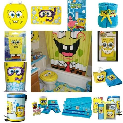 spongebob bathroom decor spongebob themed kids bathroom home pinterest kid