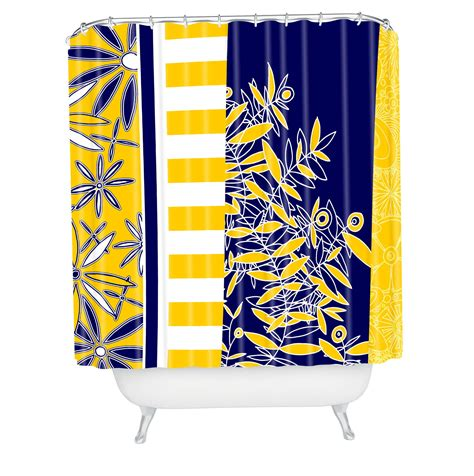 Navy And Yellow Curtains Yellow And Navy Blue Curtains Home Design Ideas