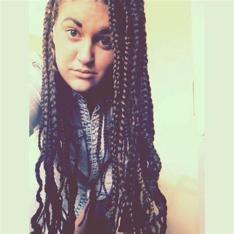 white women weave styles white girl with box braids hair nails makeup pinterest