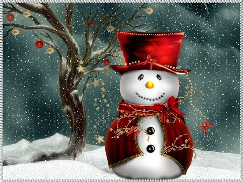 christmas computer wallpapers christmas snowman