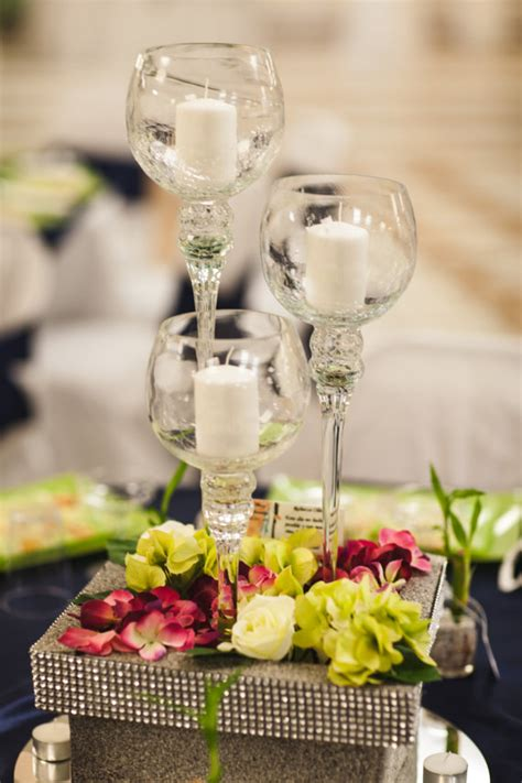 wine glass centerpieces for weddings items similar to wine glass wedding centerpiece base candle holder display unique flower