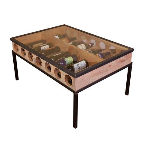 glass top coffee table wine barrel furniture
