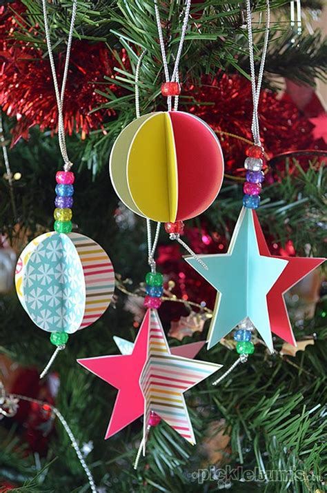 3d paper christmas tree with ribbon 35 ornaments diy handmade ornament craft ideas