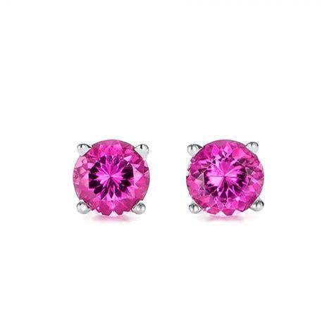 pink tourmaline stud earrings 100946