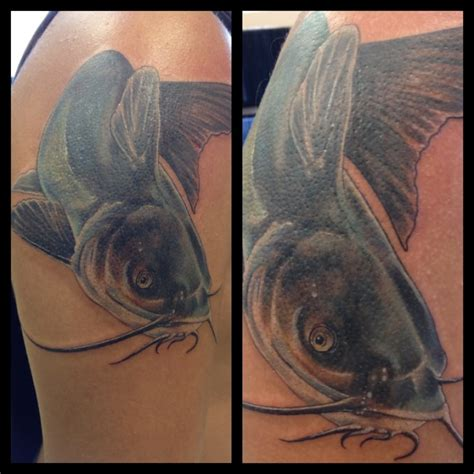 catfish tattoo catfish done at skinquake by matt yelp