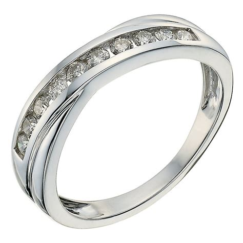 9ct white gold 0 33ct crossover eternity ring