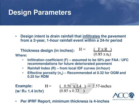 design rainfall event ppt permeable drainage layers in airfield pavements