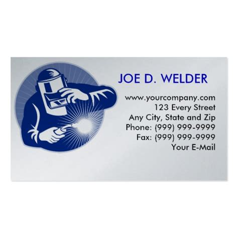 Welding Business Card Templates Free by Welder Welding Business Card Zazzle