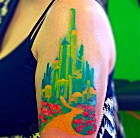 emerald city tattoo emerald city watercolor watercolor tattoos by