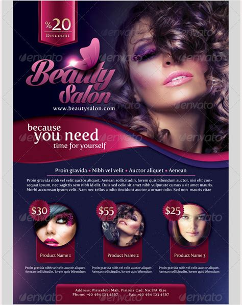 salon flyer templates free download the free beauty salon
