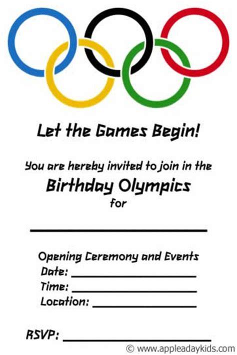 Olympic Invitation Template olympic themed birthday ideas