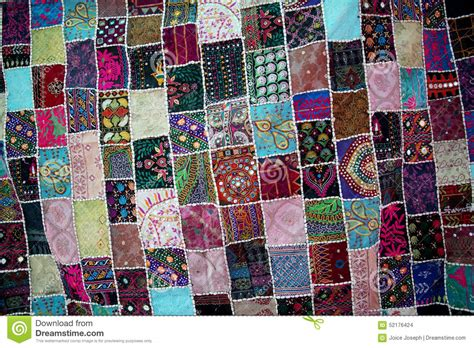 Patchwork Photo Quilt - patchwork quilt for backgrounds stock photo image 52176424