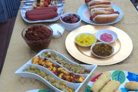 hot dog toppings bar a father s day menu joy of kosher