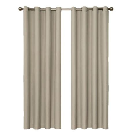 beige blackout curtains eclipse dane blackout string beige curtain panel 84 in