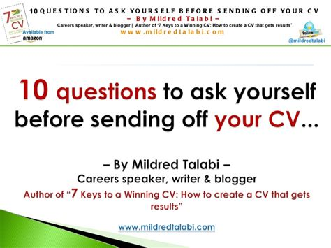 10 Questions To Ask Yourself Before Starting A Business by 10 Questions To Ask Yourself Before Sending Your Cv