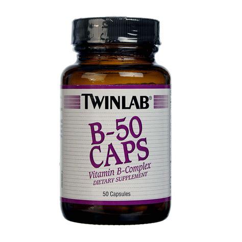 Suplemen Twinlab Twinlab B 50 50 Caps Evitamins