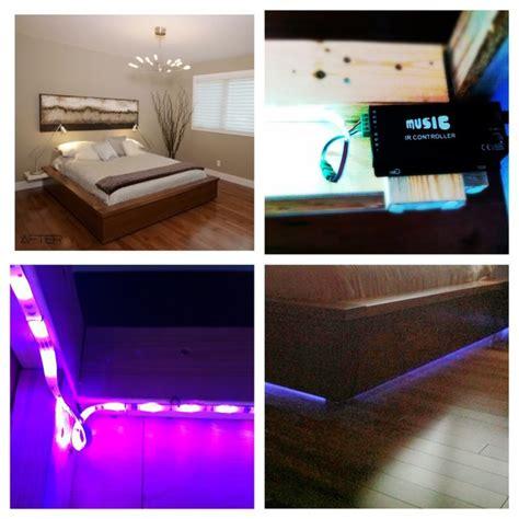 bed frame with led lights black walnut platform bed frame with led lights