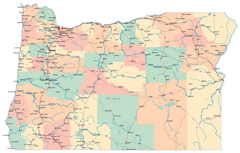 map of oregon interstates large administrative map of oregon state with roads