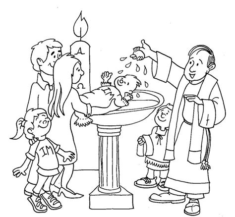 Coloring Pages Baby Baptism | baptism coloring page church busy bags pinterest