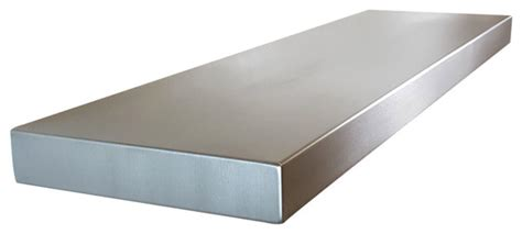 stainless steel floating shelves 24 quot seamless modern