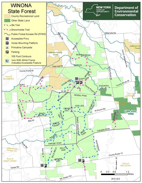 list of state forests nys dept of environmental winona state forest map nys dept of environmental