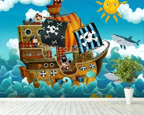 pirate wall murals wallpaper wall mural wallsauce