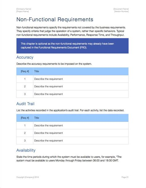 iwork templates business requirements template apple iwork