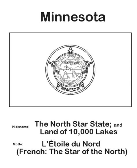 State Minnesota Search 17 Best Images About States Coloring Pages On