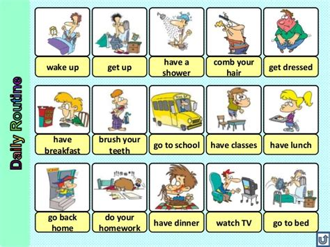 imagenes rutinas diarias en ingles actividades diarias o rutinas diarias en ingles rutinas