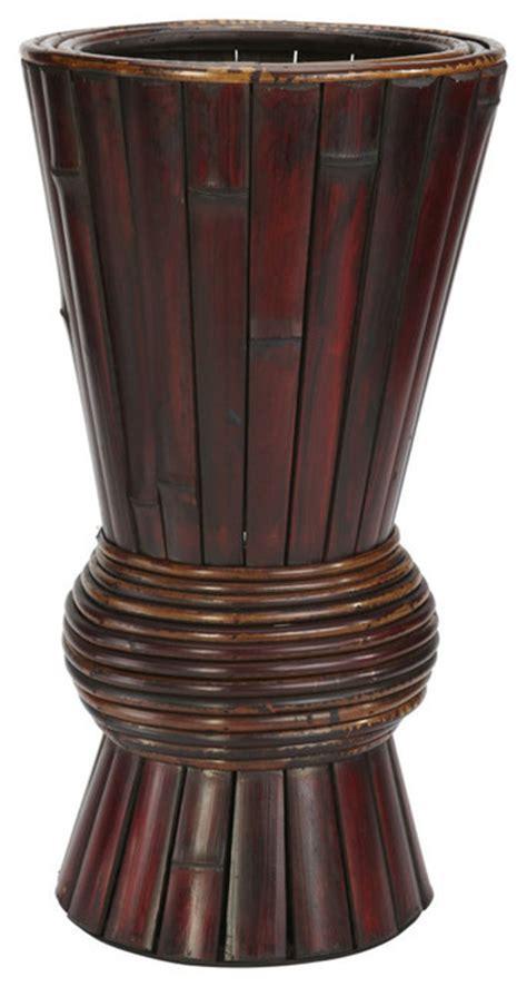 Bamboo Decorative Planter Tropical Indoor Pots And Decorative Indoor Planters