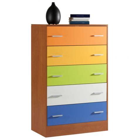 cassettiere componibili cassettiera componibile colore ciliegio e multicolore