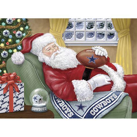 nfl napping santa christmas cards  danbury mint