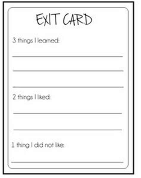 Ticket Out The Door Template by Ticket Out The Door On Exit Tickets Exit