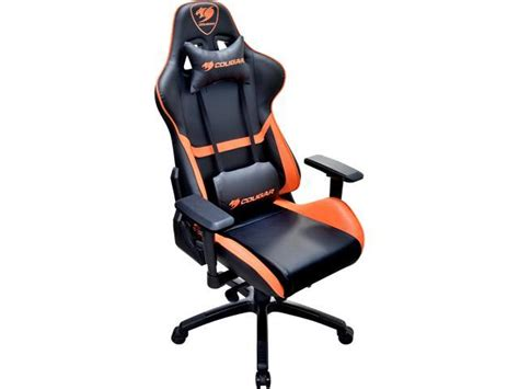 armchair gamer cougar armor gaming chair black and orange newegg com