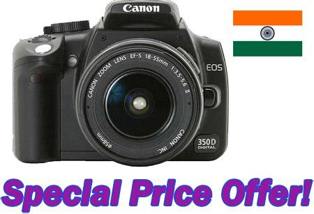 canon 350d price canon india offers eos 350d dslr at special price