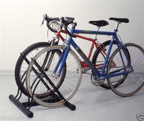 racor two bike bicycle storage floor stand rack organizer