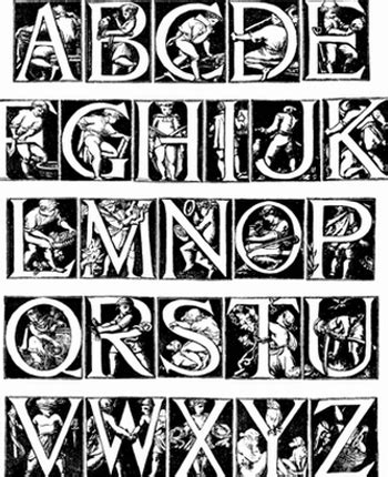 cool alphabet letter designs   clip art