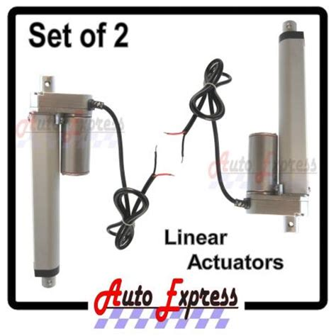 Actuator Adb 225 F 24v Replacement linear actuators heavy duty 6 quot inch stroke 225 pound max lift 12 volt dc set ebay