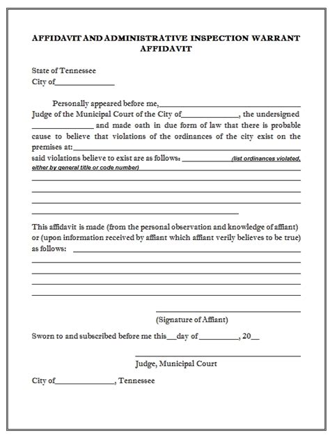 Search Warrant Affidavit Template Invitation Template Arrest Affidavit Template
