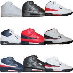 Fila Shoes Mens Fila F13 F 13 Classic Mid High Top Basketball Shoes