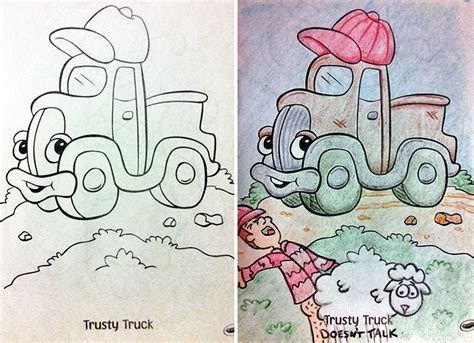 coloring book pictures gone wrong see what happens when adults do coloring books part 2