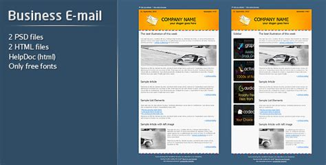 Business E Mail Template By Firefleur Themeforest Envato Email Templates