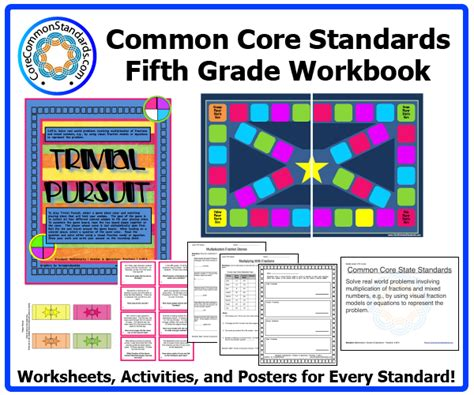 Common Standards Math 5th Grade Worksheets by Fifth Grade Common Activities