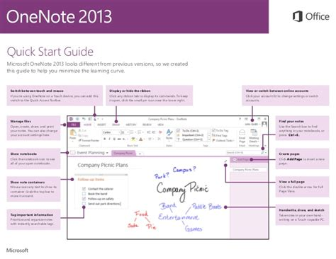 start guide template onenote 2013 start guide